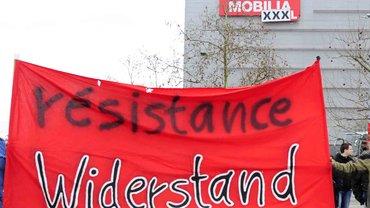 Widerstand gegen die Pläne von Mann Mobilia XXXL