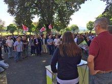 Protest gegen geplante Psychiatrie-Finanzierung am PZN Wiesloch