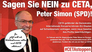 Sagen Sie NEIN zu CETA, Peter Simon (SPD)
