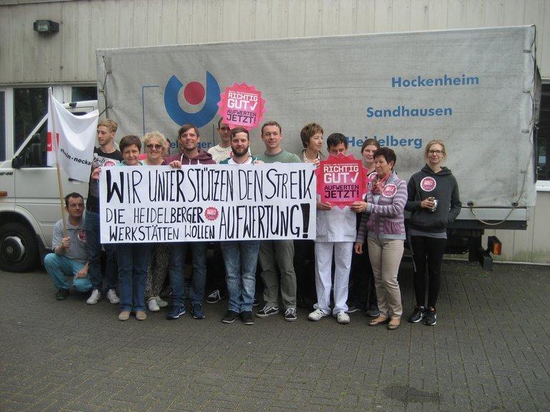 Heidelberger Werkstätten unterstützen den SuE-Streik