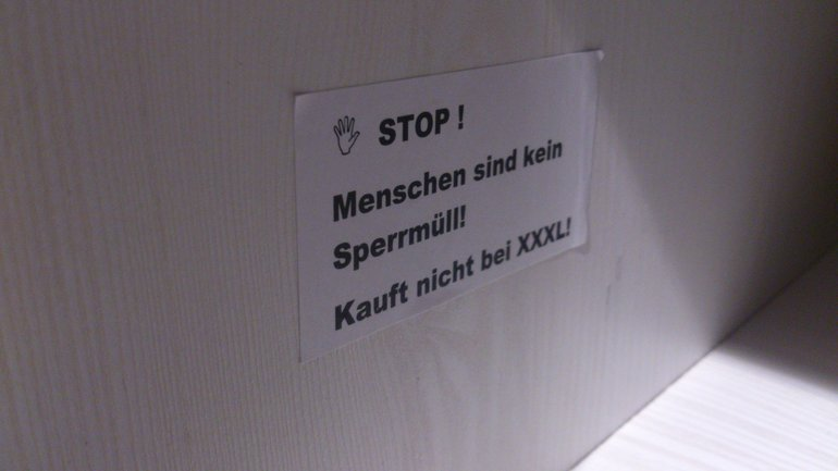 Aktion bei XXXL in Heilbronn