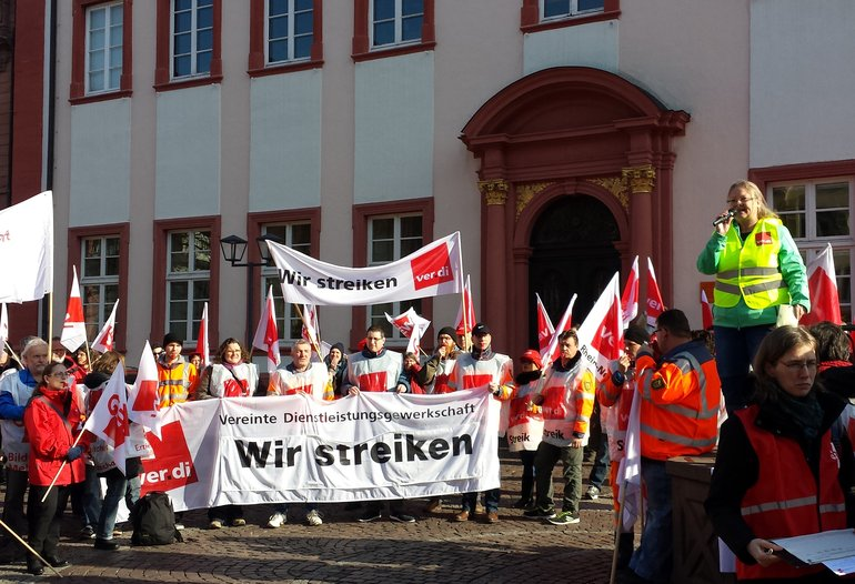 Warnstreik in Heidelberg