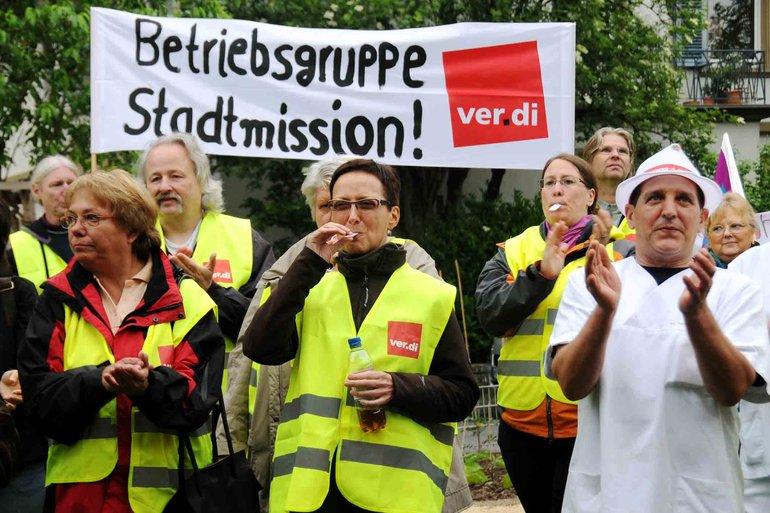 3 Tage Streik bei der Stadtmission in Heidelberg