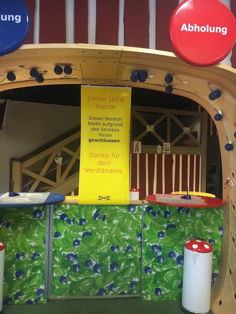 Am Samstag blieb das Kinderland bei IKEA geschlossen