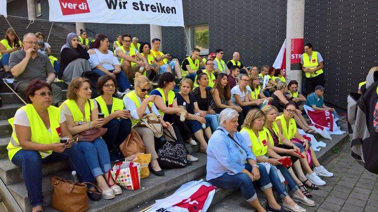 Einzelhandels-Streiktag 7.7.2017 in Karlsruhe