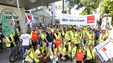 Streikversammlung Bismarckplatz 18.7.2017