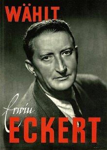 Mannheimer Wahlplakat für Erwin Eckert (1945)
