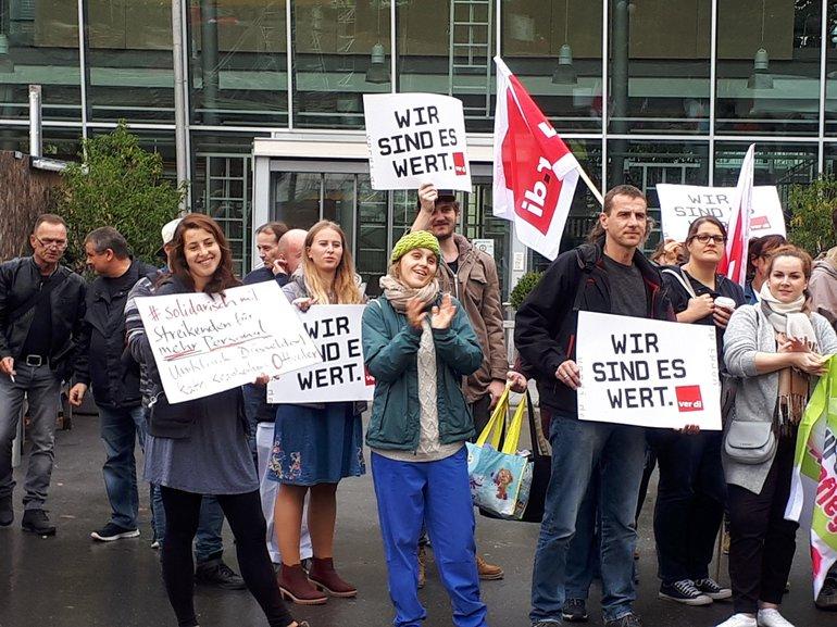 Protestkundgebung Uniklinikum Heidelberg am 24.10.2017