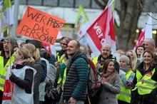 Kundgebung an der Uniklinik Heidelberg