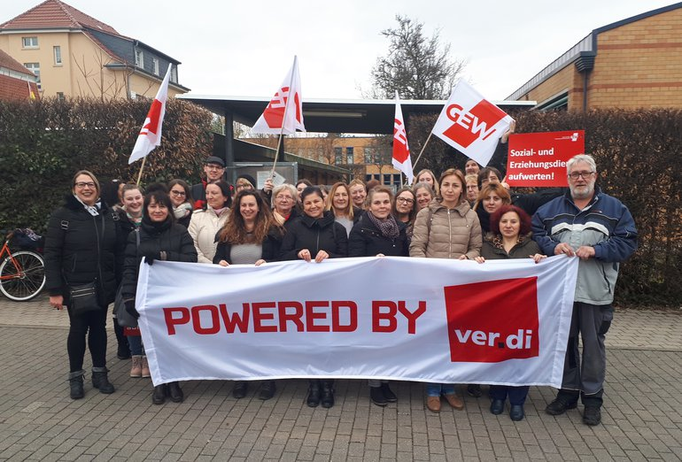 Beschäftigte der Schloss-Schule Ilvesheim stehen hinter den ver.di Forderungen