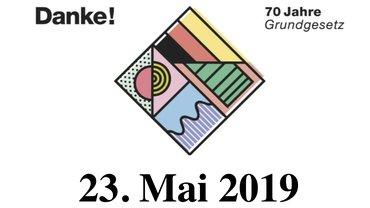 """Das Logo der Aktion """"Danke! 70 Jahre Grundgesetz"""""""