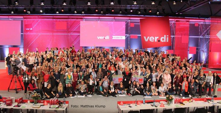 Die weiblichen Delegierten auf dem ver.di Bundeskongress 2019