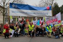 Streik am Uniklinikum Heidelberg im Januar 2018