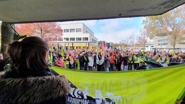 Warnstreik und Kundgebung an der Uniklinik Heidelberg am 5.11.2019