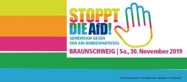 Gemeinsam gegen den AfD bundesparteitag in Braunschweig!