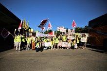 Streik bei SGN Wiesloch am 22.7.2020