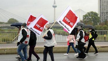 Warnstreiktag 16.10. in Mannheim