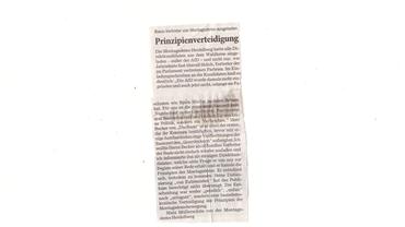 Leserbrief von Matz Müllerschön